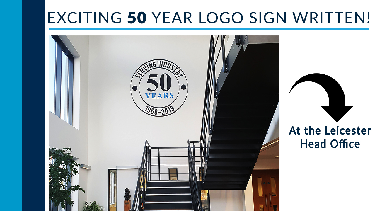 Our 50 year sign written logo is complete!